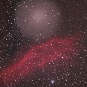 Comet Holmes and California Nebula