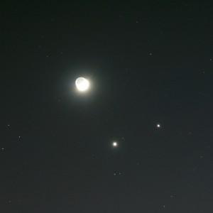 Venus, Jupiter, & the Moon
