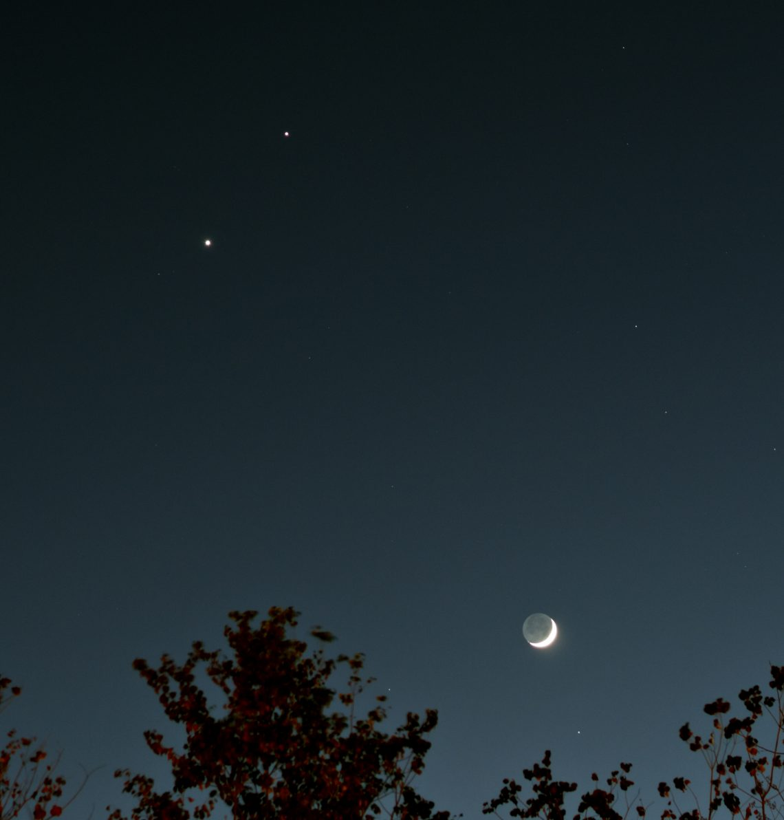 Venus, Jupiter, & the Moon December 1, 2008