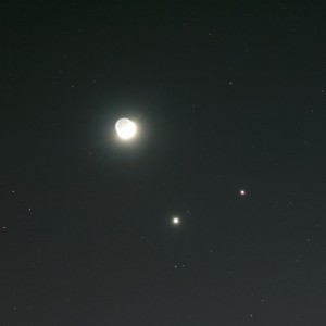 Venus, Jupiter, & the Moon
