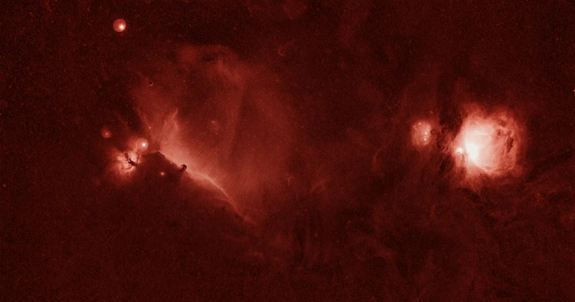 Orion Hydrogen Alpha December 1, 2009