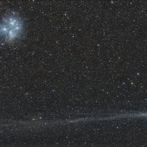 Comet Lovejoy and the Pleiades